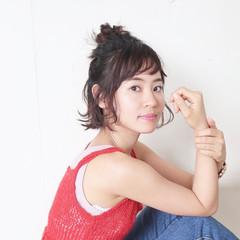 ヘアアレンジ ゆるふわ 女子会 ナチュラル ヘアスタイルや髪型の写真・画像