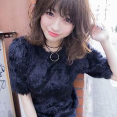 ミディアム 大人かわいい 小顔 こなれ感 ヘアスタイルや髪型の写真・画像