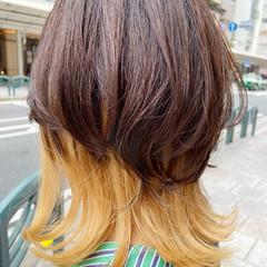 ホワイトブリーチ インナーカラー ナチュラル ブリーチ ヘアスタイルや髪型の写真・画像