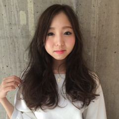 黒髪 フェミニン ロング ピュア ヘアスタイルや髪型の写真・画像
