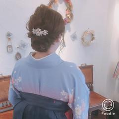 上品 大人かわいい エレガント 着物 ヘアスタイルや髪型の写真・画像