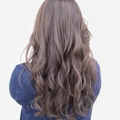 ハイライト ブルージュ アッシュ ロング ヘアスタイルや髪型の写真・画像