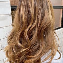 ナチュラル レイヤーロングヘア ロング バレイヤージュ ヘアスタイルや髪型の写真・画像