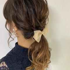 フェミニン 二次会ヘア 二次会 ロング ヘアスタイルや髪型の写真・画像