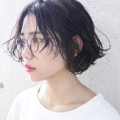 ショート ナチュラル 大人かわいい アンニュイ ヘアスタイルや髪型の写真・画像