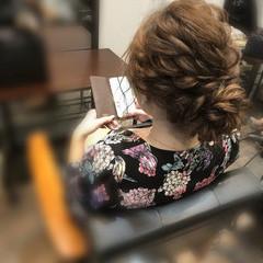 ヘアアレンジ フェミニン パーティ アップスタイル ヘアスタイルや髪型の写真・画像
