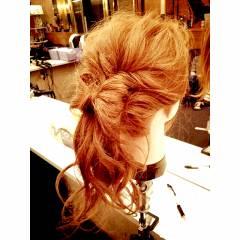 モテ髪 コンサバ ゆるふわ ヘアアレンジ ヘアスタイルや髪型の写真・画像