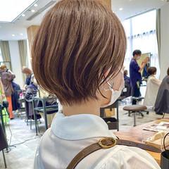 アンニュイほつれヘア マッシュショート ショートボブ 切りっぱなしボブ ヘアスタイルや髪型の写真・画像