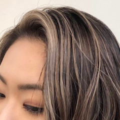 グラデーションカラー ロング インナーカラー ハイライト ヘアスタイルや髪型の写真・画像