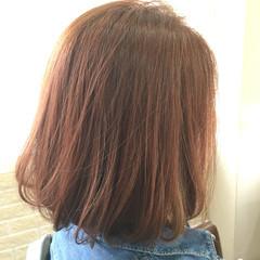イエロー 大人女子 オレンジ 春 ヘアスタイルや髪型の写真・画像