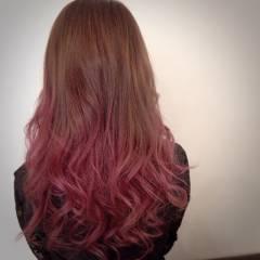 グラデーションカラー ストリート ピンク パンク ヘアスタイルや髪型の写真・画像