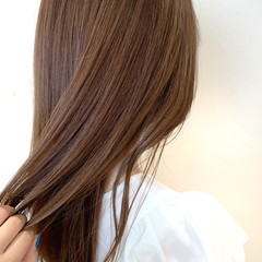 ナチュラル ロング サイエンスアクア ヘアスタイルや髪型の写真・画像