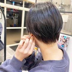 切りっぱなしボブ ベリーショート ショートヘア ハンサムショート ヘアスタイルや髪型の写真・画像