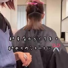 ショート 切りっぱなしボブ ミニボブ ショートヘア ヘアスタイルや髪型の写真・画像