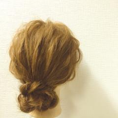 ヘアアレンジ ショート セミロング ゆるふわ ヘアスタイルや髪型の写真・画像