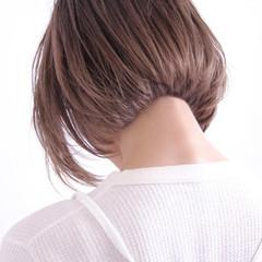 色気 ボブ 美シルエット ナチュラル ヘアスタイルや髪型の写真・画像