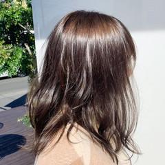 ヘアカラー ナチュラル ココアベージュ トリートメント ヘアスタイルや髪型の写真・画像