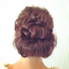セミロング ギブソンタック ヘアアレンジ アップスタイル ヘアスタイルや髪型の写真・画像
