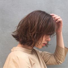ハイライト ストリート 外ハネ ボブ ヘアスタイルや髪型の写真・画像