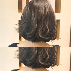 大人かわいい モテボブ ナチュラル 切りっぱなしボブ ヘアスタイルや髪型の写真・画像