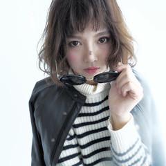 外国人風 ボブ グラデーションカラー 黒髪 ヘアスタイルや髪型の写真・画像