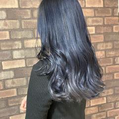 グラデーションカラー ブルージュ ブルーグラデーション ナチュラル ヘアスタイルや髪型の写真・画像