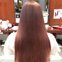 ストリート グレージュ ピンク グラデーションカラー ヘアスタイルや髪型の写真・画像