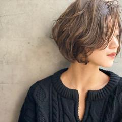 大人かわいい ショートボブ 艶髪 ヘアメイク ヘアスタイルや髪型の写真・画像