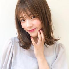 ヘアアレンジ デジタルパーマ ミディアム アウトドア ヘアスタイルや髪型の写真・画像
