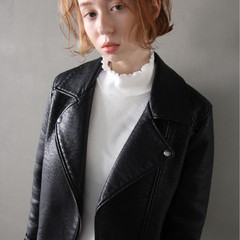 ボブ ストリート パーマ 外国人風 ヘアスタイルや髪型の写真・画像