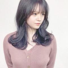 ガーリー 前髪 ダブルカラー ブリーチカラー ヘアスタイルや髪型の写真・画像