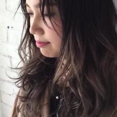 ハイライト グラデーションカラー グレージュ バレイヤージュ ヘアスタイルや髪型の写真・画像
