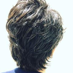 メンズパーマ メンズショート メンズスタイル ナチュラル ヘアスタイルや髪型の写真・画像