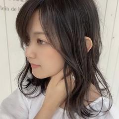 大人可愛い 透明感カラー フェミニン 色濃く透ける ヘアスタイルや髪型の写真・画像