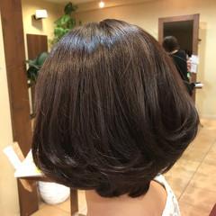 フェミニン ボブ 簡単ヘアアレンジ ヘアスタイルや髪型の写真・画像