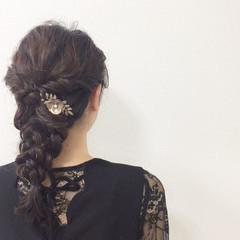 ナチュラル 結婚式 ヘアアレンジ 謝恩会 ヘアスタイルや髪型の写真・画像