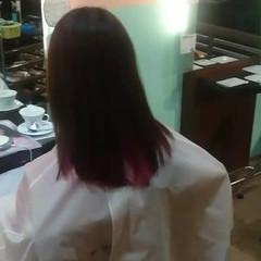 セミロング インナーカラー ストリート ミルクティー ヘアスタイルや髪型の写真・画像