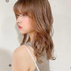 ゆるふわパーマ デジタルパーマ レイヤーカット ナチュラル ヘアスタイルや髪型の写真・画像