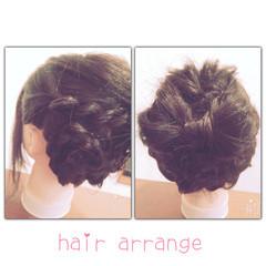 ねじり ゆるふわ ヘアアレンジ 抜け感 ヘアスタイルや髪型の写真・画像