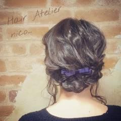 簡単ヘアアレンジ ミディアム ナチュラル 愛され ヘアスタイルや髪型の写真・画像