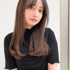 セミロング 大人女子 ストレート 大人かわいい ヘアスタイルや髪型の写真・画像