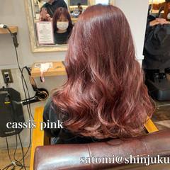 セミロング モテ髪 ラベンダーピンク 大人かわいい ヘアスタイルや髪型の写真・画像