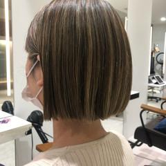 ハイライト コントラストハイライト ナチュラル ショートヘア ヘアスタイルや髪型の写真・画像