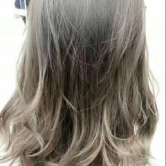 グラデーションカラー ストリート 外国人風 ウェットヘア ヘアスタイルや髪型の写真・画像