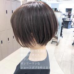 髪質改善トリートメント ハンサムショート ショートボブ ナチュラル ヘアスタイルや髪型の写真・画像