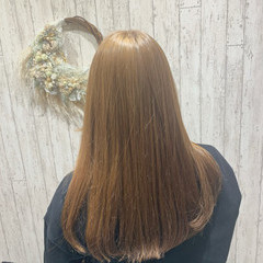 ブラウンベージュ 髪質改善トリートメント ミルクティーベージュ ロング ヘアスタイルや髪型の写真・画像