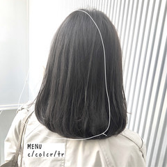 ミディアム 縮毛矯正 髪質改善 ナチュラル ヘアスタイルや髪型の写真・画像