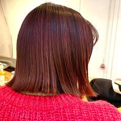 ブリーチ モード 透明感カラー 切りっぱなしボブ ヘアスタイルや髪型の写真・画像