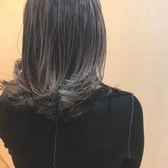 ブリーチ 外国人風 バレイヤージュ 外国人風カラー ヘアスタイルや髪型の写真・画像