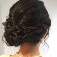 セミロング エレガント パーティ ヘアアレンジ ヘアスタイルや髪型の写真・画像